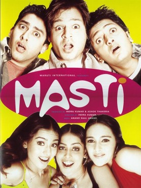 Masti (2004) DM - Ajay Devgan, Vivek Oberoi, Aaftab Shivdasani, Ritesh Deshmukh, Amrita Rao, Tara Sharma, Genelia D'Souza, Lara Dutta, Rakhi Sawant
