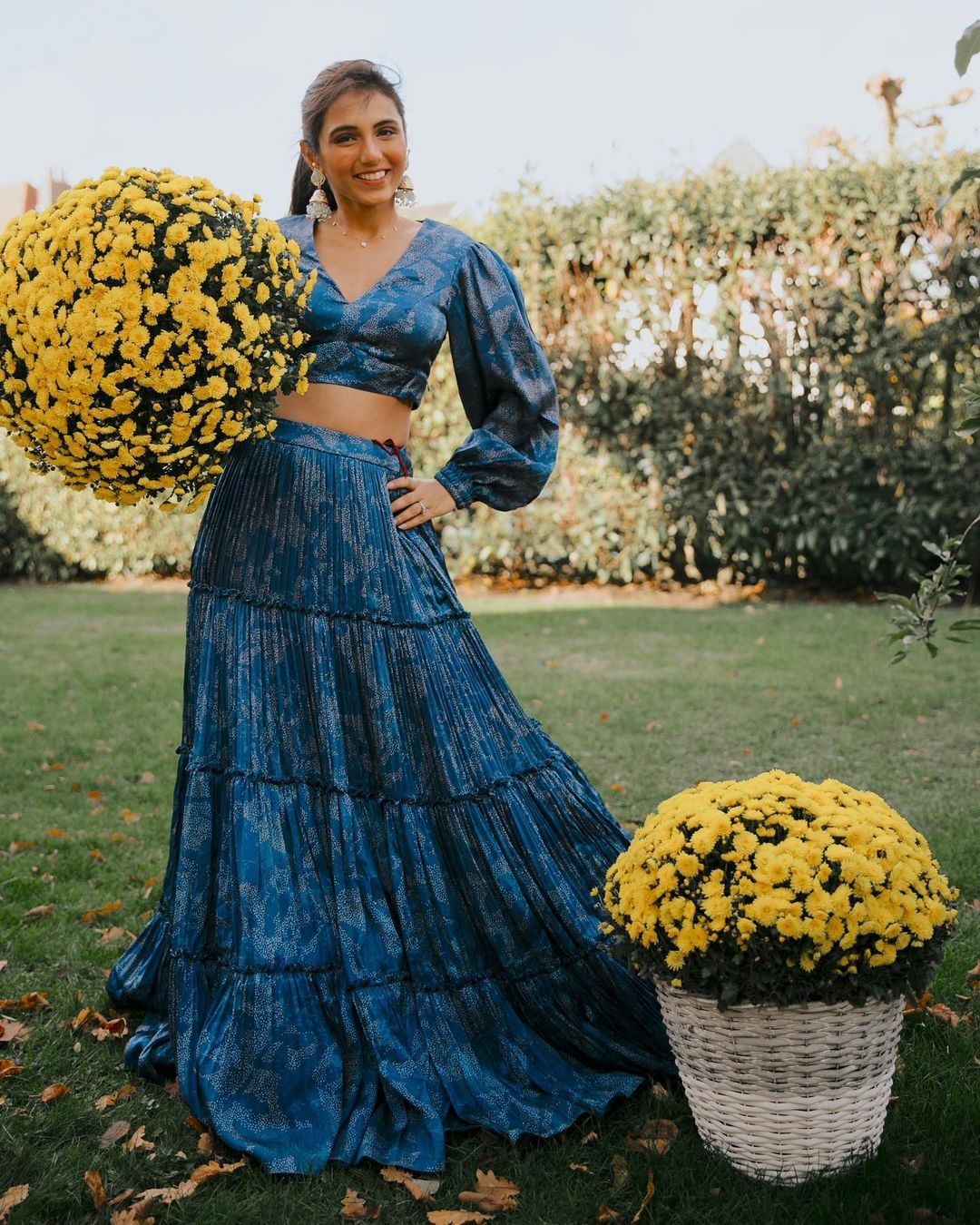 Masoom Minawala Mehta looking breathtakingly beautiful in Designer ash gold lehenga || Planet Bollywood || Media Tribe || The-Uncovered